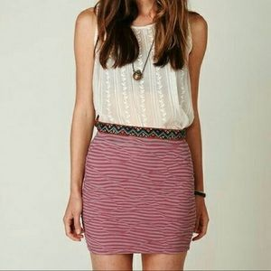 Free People Striped Pencil Skirt